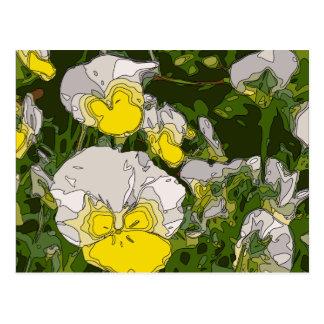 Blanc et fleurs de jonquille d'or carte postale