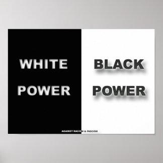 Blanc et noir poster
