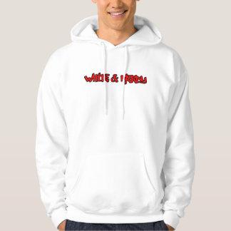 Blanc et ringard sweatshirt à capuche