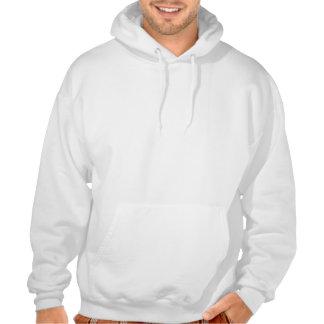 Blanc et ringard sweatshirts avec capuche