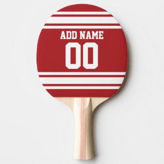 Blanc et rouge folâtre le nombre nommé fait sur raquette tennis de table
