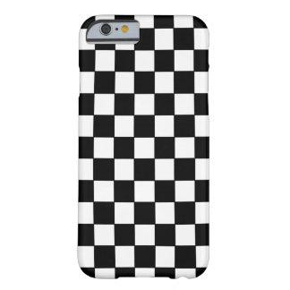 Blanc noir vérifié - cas de l'iPhone 6 Coque iPhone 6 Barely There