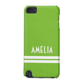 Blanc nommé de vert de chaux de monogramme de coque iPod touch 5G