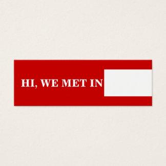Blanc rouge de télécartes de voyage mini carte de visite
