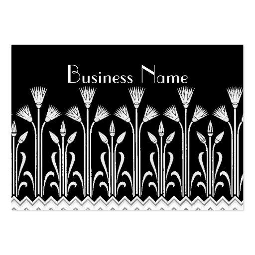 Blanc victorien vintage de noir de motif de carte  cartes de visite personnelles