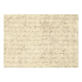 Blanc vintage de modèle des textes d'antiquité de  modèles de cartes de visite