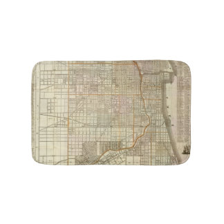 Blanchard's guide map of Chicago 2 Bath Mat