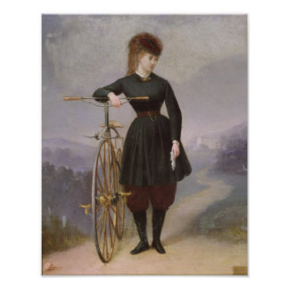 Blanche d'Antigny  and her Velocipede Poster