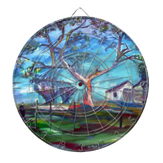 Blanco Texas Ranch House Dartboard