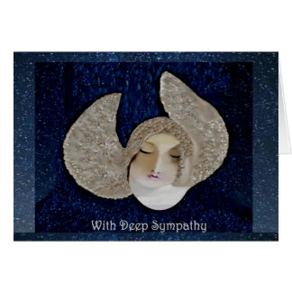 Blank Angel Sympathy Card in Blue Skies