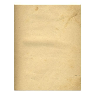 Blank Antique Stained 1880's Paper Custom Flyer