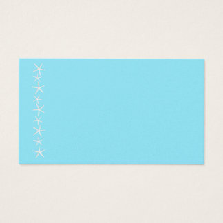 Blank Aqua Starfish Border Place Cards, Medium Business Card