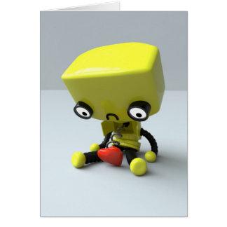Blank Art Card - Sad Robot