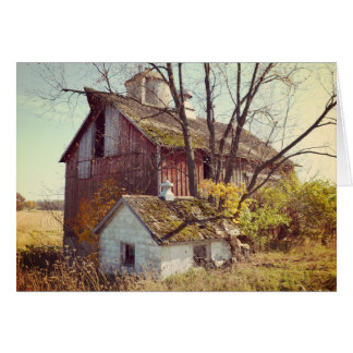 Blank Autumn Barn Card