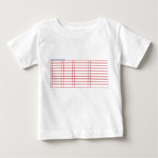 Blank Baby Travel Check List T-Shirt