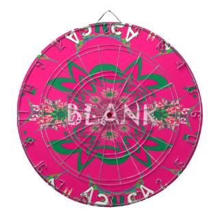 Blank baby vivid pink floral purple shade monogram dartboard