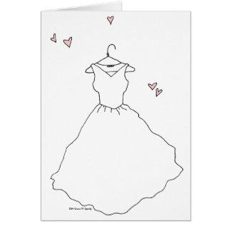Blank Bridal Shower Bride Wedding Engagement Card