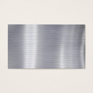 "Blank Brushed Aluminum ""Faux Aluminum"" Business Card"