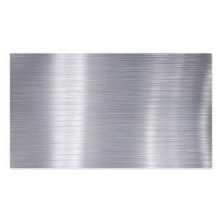 "Blank Brushed Aluminum ""Faux Aluminum"" Business Card"
