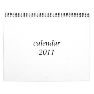 Blank calendar 2011