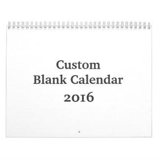 Blank Calendar 2016 - Custom With Holidays
