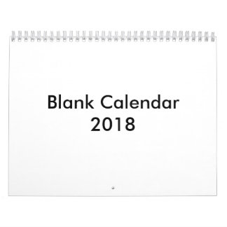 Blank Calendar 2018 Without Holidays