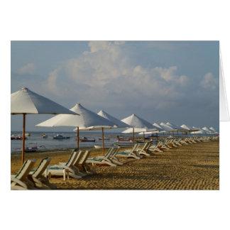 Blank Card Beach Umbrellas
