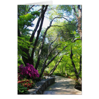 Blank Card, Botanical Garden Card