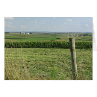 Blank Card of a Scenic View of an Amish Farm