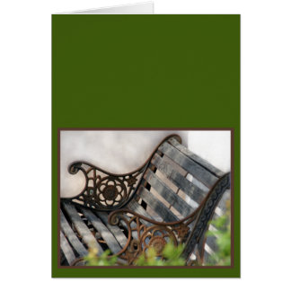 Blank Card Park Bench