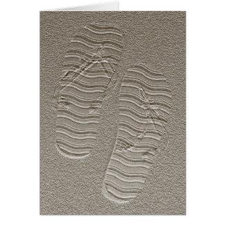 Blank Card - Sandy Flip Flops