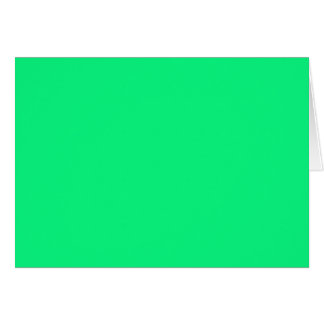Blank Card with Bright Neon Green Background