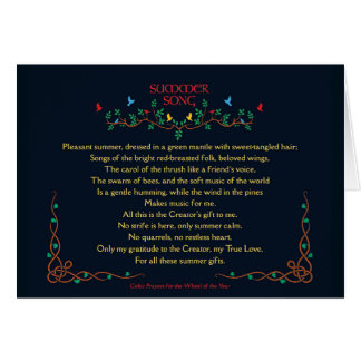 Blank Card with Celtic Summer Song