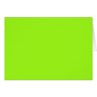 Blank Card with Chartreuse Green Background