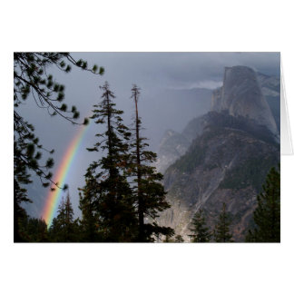 Blank Card with Rainbow near Half Dome