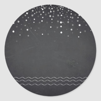 Blank  Chalkboard Confetti  Customize Tex Classic Round Sticker