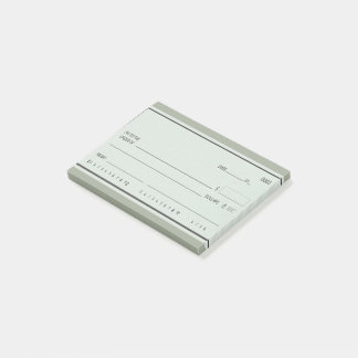 Blank Check Post-it Notes