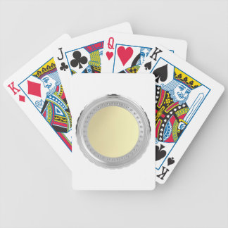 Blank coin bicycle playing cards