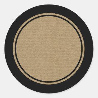 Blank Craft Paper Printed Bottle Jar Label Round Sticker