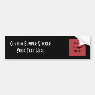 ♥ Blank - Create Your Own Gift Bumper Stickers