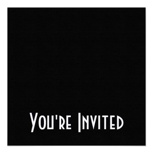 Blank - Create Your Own Gift Personalized Invitations