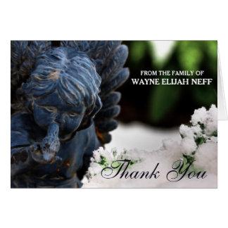 Blank Custom Sympathy Thank You Angel Card