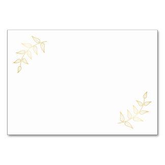 Blank Elegant Gold Laurels Card
