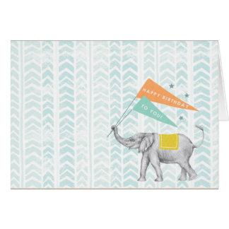 blank elephant card