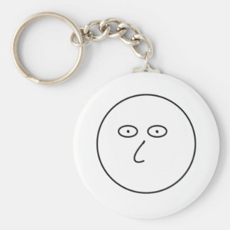 Blank Face - Decorate with dry erase markers! Keychain