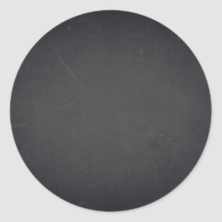 Blank Faux Chalkboard Customize Text Every Package Classic Round Sticker