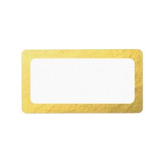Blank Faux Gold Address