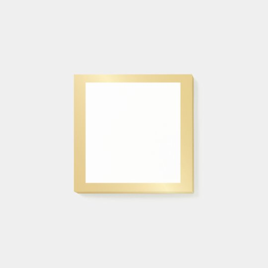 Blank Faux Gold Foil Post-it® Notes