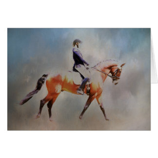 Blank Fine Art Card Dressage Horse and Rider