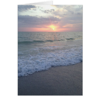 Blank Florida Sunset Beach Card